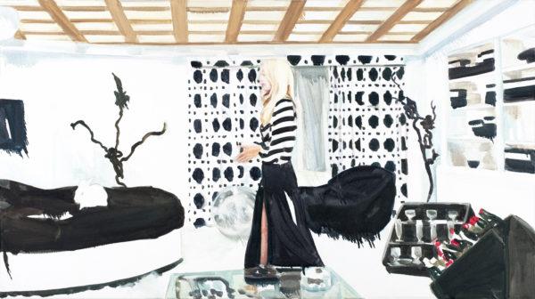 """Christine Weber """"Calibro_Proof_1"""", 2013, Öl auf Nessel, 70 x 125 cm"""